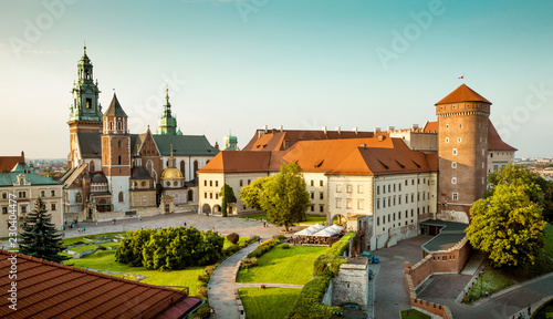 Photo sur Aluminium Cracovie Wawel castle in Krakow, Poland