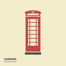 London Telephone Booth. Flat I...