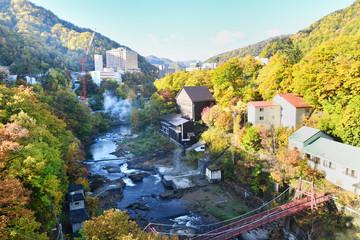 秋の定山渓温泉