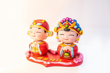 Romantic Cute Chinese Traditional Groom Bride Doll