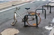Broken Bike Thrown On Street I...