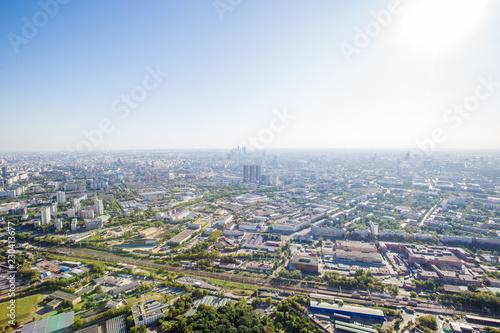 Poster Aziatische Plekken Aerial view of Moscow