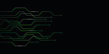 Green Abstract Digital Technology Circuit Board Background