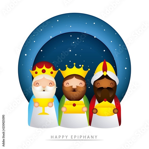 happy epiphany related Fotobehang