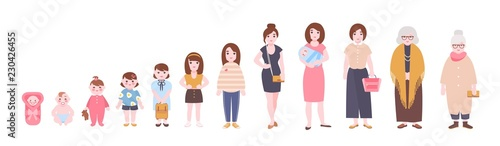 Photo  Life cycle of woman