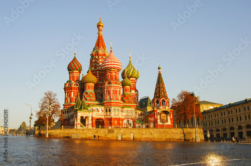 Wall Murals Moscow Moscow, Russia, Red square,view of St. Basil's Cathedral