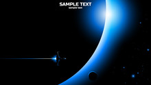 Space Travel Creative Vector Background