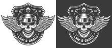 Vintage Monochrome Police Logo...