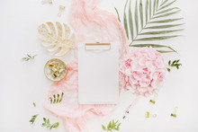 Blank Paper Clipboard, Pink Hy...