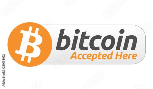 Fotografía  Bitcoin Accepted Here Label