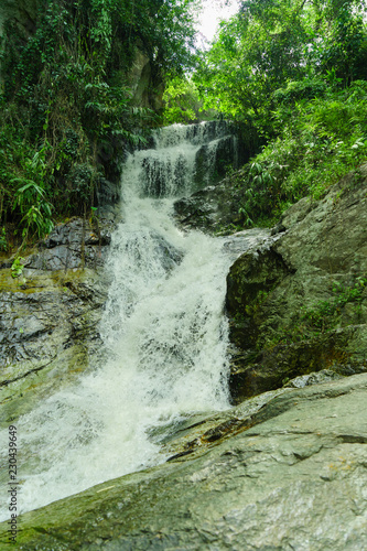 Keuken foto achterwand Watervallen The Mae Sa waterfall. it is beautiful on Doi Suthep at Chiang Mai in Thailand