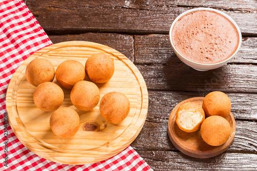 Fotografie, Obraz  Traditional Colombian buñuelo - Deep Fried Cheese Bread