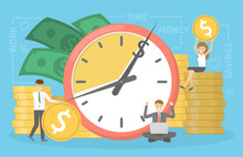 Time Is Money Concept. Idea Of...