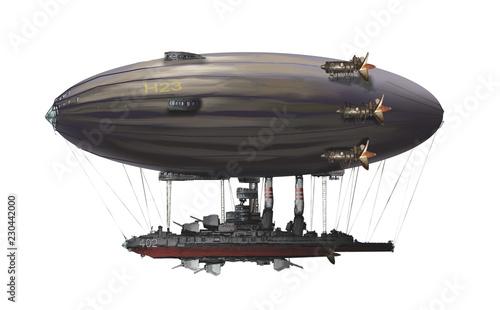 Fotografie, Obraz  steampunk airship