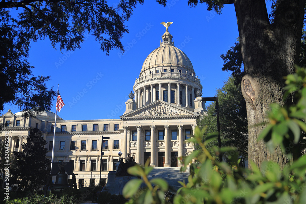 Fototapety, obrazy: Mississippi State Capitol building, Jackson, MS
