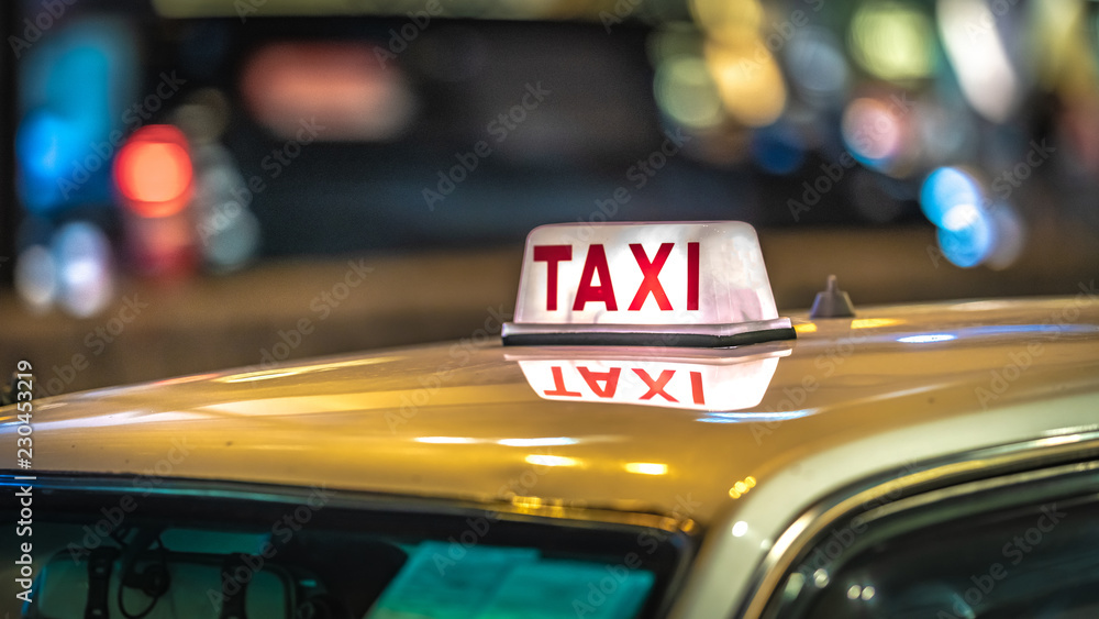 Fototapety, obrazy: Taxi In Hong Kong On October 8, 2018