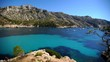 Time Lapse Aerial View of Calanque de Sormiou with Yachts in Mediterranean Sea