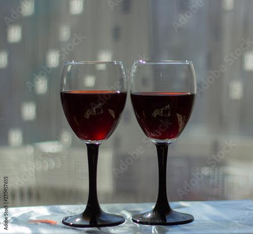 Foto op Canvas Bar Wine glasses