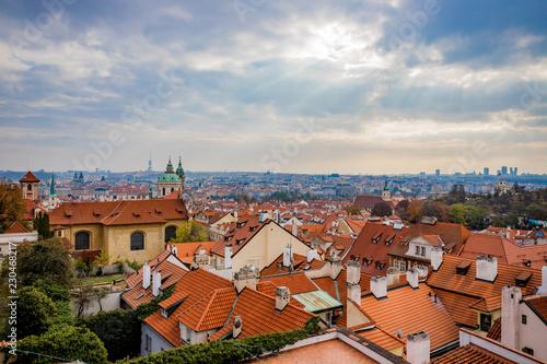 Fotografie, Obraz  Vue panoramique sur la ville de Prague