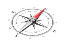 Compass On White Background