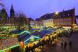 canvas print picture - Weihnachtsmarkt Freiburg