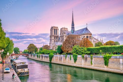 The beautiful Notre Dame de Paris in France Fototapet