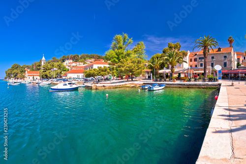 Wall Murals Green coral Adriatic town of Cavtat waterfront panoramic view