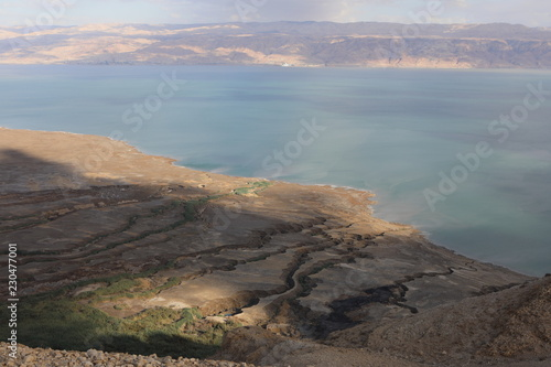 Poster Donkergrijs dead sea landscape