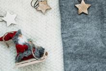 Santa Doll Sitting On The Sled...