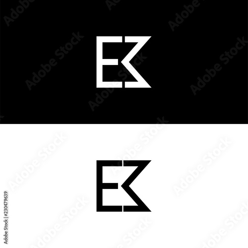 Photo  EM logo concept icon, Modern flat sign isolated on white background