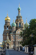 Russia. Saint-Petersburg. Church Of The Savior On Blood