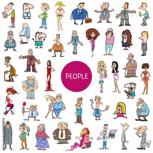 Valokuvatapetti cartoon people characters huge set