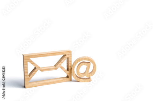 Fotomural Envelope and email symbol on a white background