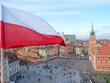 Flaga nad Warszawą.