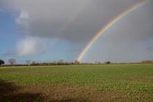 Double Rainbow Over Lincolnshire Farmland