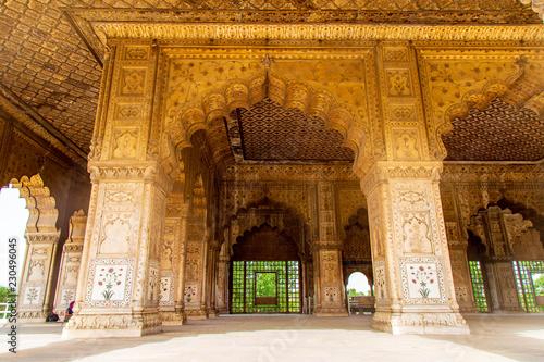 Stickers pour porte Delhi Fort Rouge Delhi site touristique visite voyage
