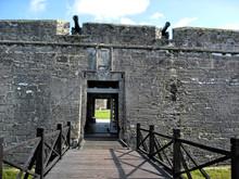 Entrance Bridge Over Moat Spanish Fort Castel De San Marco Saint Augustine Florida