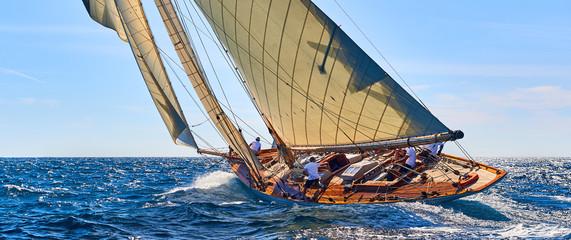 Fototapeta Sailing yacht race. Yachting. Sailing. Regatta