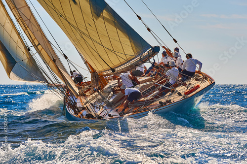 Carta da parati Sailing yacht race. Yachting. Sailing. Regatta