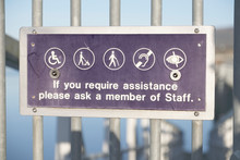 Assistance Aid Staff Help Sign For Disabled Blind Deaf Loop Induction