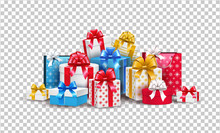 Vector Christmas New Year Holiday Present Box Gift