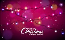 Christmas Illustration With Gl...