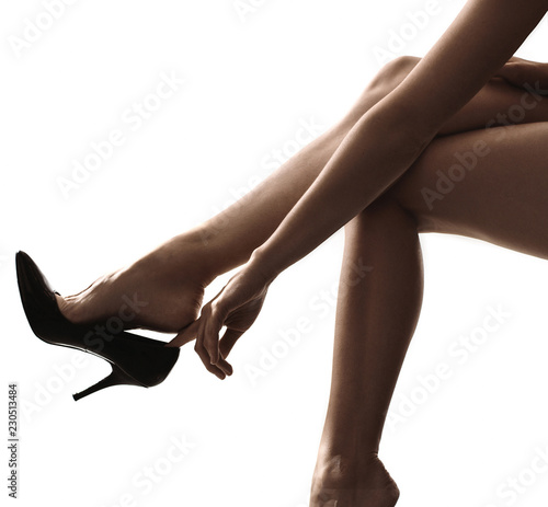Acrylic Prints Artist KB Beautiful female legs, stylish high heels