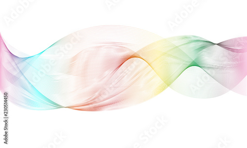 Keuken foto achterwand Abstract wave Vector Smoke Background