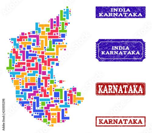 Map Of Karnataka State on