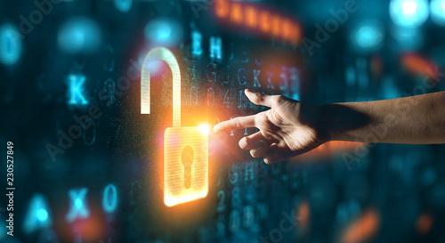 Fotografie, Obraz  Danger of hack attack