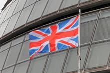 Union Jack Flag At City Hall