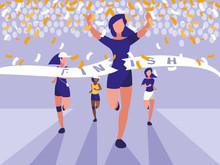 Female Athletics Race Avatar C...