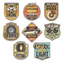 Car Repair Service Icons, Auto...