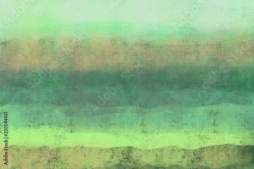 Poster Olive Abstract painterly landscape, imaginative blurred soft focus natural organic forms in hand painted artwork